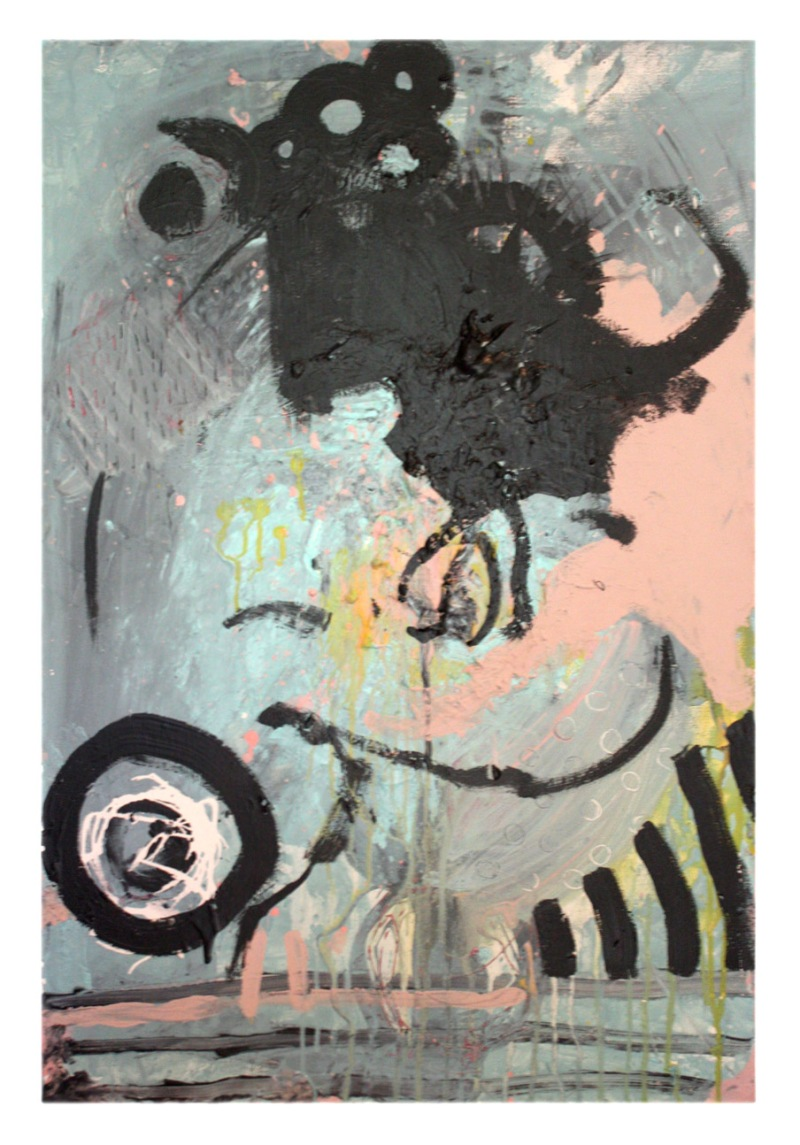 hatch 20 in x 30 in acrylic and latex on canvas 2013