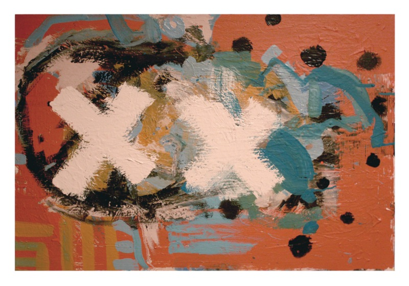 x x dimensions acrylic and latex on canvas 2013