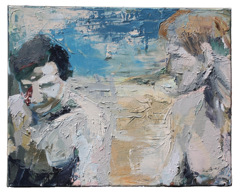 disengaged 2 oil on canvas 20 in x 16 in 2010