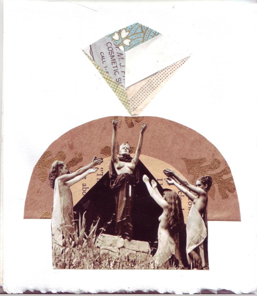 diamond worship collaged greeting card 2011