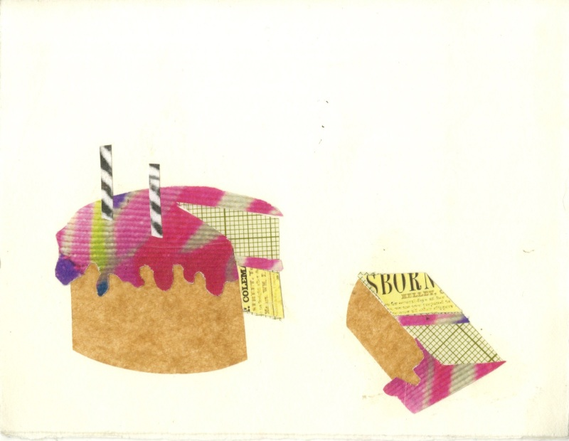 happy birthday collaged greeting card 2011
